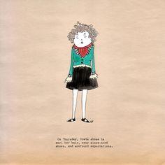 """""""Greta on Thursday"""" -- my first official art post for http://www.patreon.com/MelindaFarrar"""