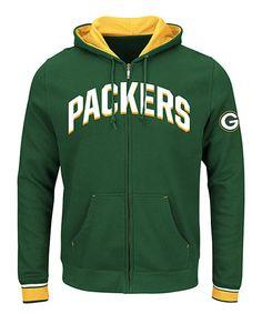 Green Bay Packers Zip-Up Hoodie - Men's Big & Tall #zulily #zulilyfinds