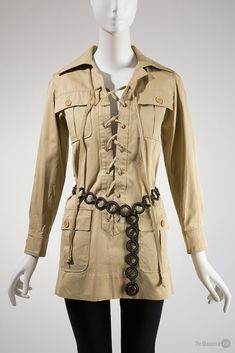 "Saint Laurent Rive Gauche ""Safari"" jacket, 1968. Collection of The Museum at FIT."