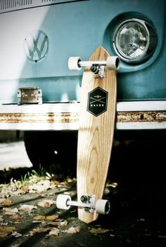 clean longboard with small screen