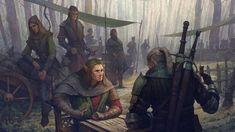 """""""Ayd f'haeil moen Hirjeth taenverde."""". Isengrim vs. Geralt, Oleg Kapustin on ArtStation at https://www.artstation.com/artwork/6Dxqw"""