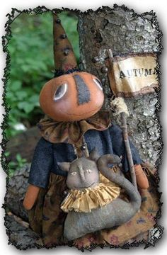 PATTERN Primtive Witches Boots /& Crows Ornie w// Stars UNCUT Threadbare Prims