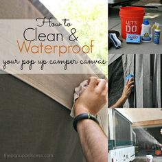 Cleaning & Waterproofing Your Pop Up Camper Canvas