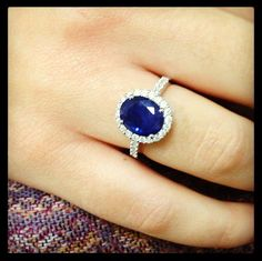 """Sapphire ring.  This would also be an amazing """"something blue"""" lol"""