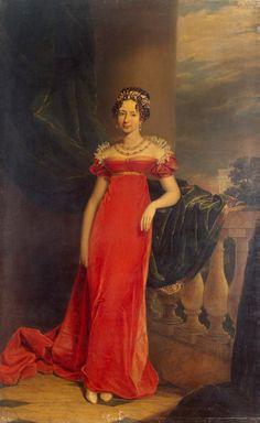 George Dawe (1781-1829) UK. 'Grand Duchess Maria Pavlovna',  1786-1859  hija del zar Pablo I de Rusia y de Sofía Dorotea de Wurtemberg. Dawe pintó  retratos de generales rusos que habían luchado durante la invasión napoleónica y terminó instalándose en San Petersburgo, siendo el primer pintor de retratos de la corte imperial rusa.