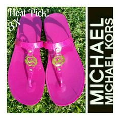 Michael Kors Pink Jelly Sandles Size 6 Excellent Michael Kors Pink Jelly Sandles Size 6 Sondra Style  Excellent condition. Michael Kors Shoes