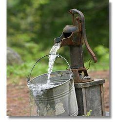 Rustic fountain
