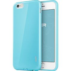 ESR iPhone 6 Plus Case, Protective Case Bumper [Shock Absorbent] [Ultra Thin [Light Weight] ] [Scratch-Resistant] [Perfect Fit] Soft TPU Back Cover for 5.5 inches iPhone 6 Plus Cover Yippee Color Series (Sky Blue)