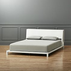 View larger image of alpine white queen bed (mattress sold separately).