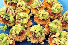 Southwest Shrimp Cakes with Lime Avocado Corn Salsa