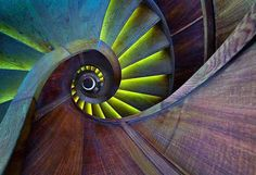 Confira o Fantástico espiral Escadas Fotografia