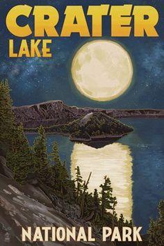 Framed Crater Lake Print