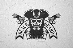 Black Beard pirate logo ~ Logo Templates on Creative Market