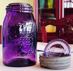 Purple Crown canning jar