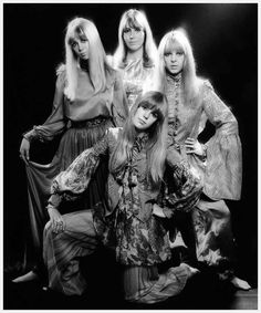 1967 Beatles Wives and Girlfriends: Pattie Boyd, Cynthia Lennon, Maureen Starkey, and Jenny Boyd.