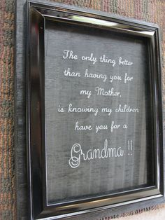 Grandmother Picture Frame  Engraved Picture by CKCustomKeepsakes, $18.00