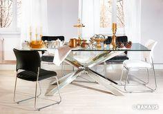SHINING TABLE #Tisch #table #Accessoires #Stuhl #chair #Metall #Glas #Gold #silber #silver #Interior #Design #Einrichtung #Wohnen #Berlin #rahaus