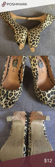 Leopard Pump Leopard print pump . Brand new. Never worn. From store Rue 21. Size says M 7/8. I'm a 8 , they felt snug on my feet. That's y never worn 3 1/2 inch heel . Shoes Heels