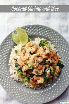 Coconut Shrimp with Minute Ready to Serve Jasmine Rice
