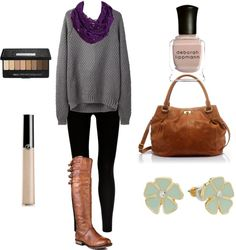 """""""Winter Sweater Outfit"""" by mlc04536 on Polyvore"""
