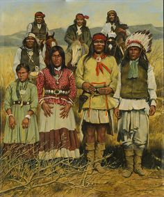 Native American Painting - Apache Family by Don Langeneckert Apache Native American, Native American Legends, Native American Paintings, Native American Pictures, Native American Artists, American Indian Art, Apache Indian, Native Indian, Navajo