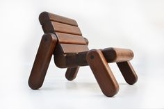 inflated woods armchair