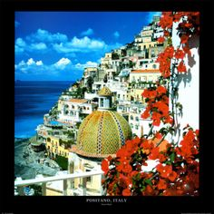 Art Paintings Mixed Media Collage: Positano, Italy Art Poster Print By Stuart Black, 27.5X27.5 -> BUY IT NOW ONLY: $30.99 on eBay!