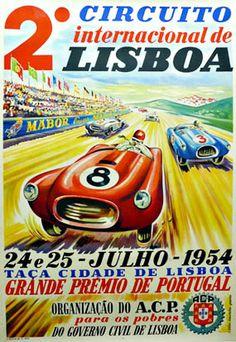Circuito Internacional de Lisboa 2 race car poster