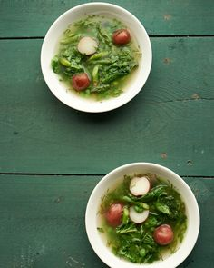 Spring Vegetable Soup | Martha Stewart - Done in about 45 minutes - 270 calories