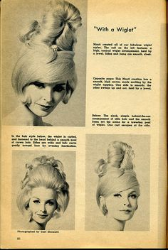 Hair styling with wiglets. Wiglet,