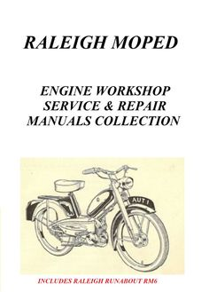 RALEIGH MOPED vintage motorbike motorcycle by RetroDIYandPlants