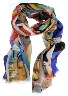Vogue Covers Scarf, featuring 25 British Vogue Covers