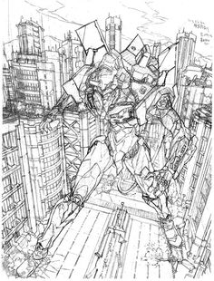 Rough for 'Evangelion' (N64) Illustration by Yoh Yoshinari