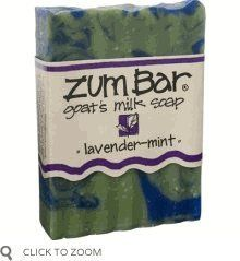 Indigo Wild: Zum Bar Goat's Milk Soap, Lavender & Mint 3 oz (5 pack) by Indigo Wild. Save 2 Off!. $28.05. Part flower, part herb. Together, they plant some nectar and some mint-conditioned freshness. Playful and yummy.Ingredients: Saponified 100% food grade olive, coconut, palm & castor oils, in a goat's milk base, with herbs, pure essential oils and mineral pigments.