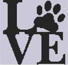 Looking for your next project? You're going to love Love Paw Cross Stitch Pattern  by designer Motherbeedesigns. - via @Craftsy