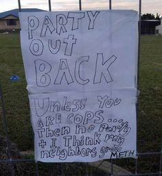 The Party Out Back.   47 Signs You'll Only See In Australia
