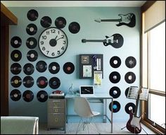 decorating a room with classic rock - Google Search