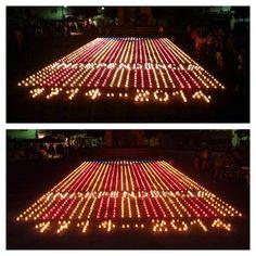 Estelada amb Espelmes - Encén la Flama a Sant Hilari Sacalm! #estelada #catalunya #santhilari