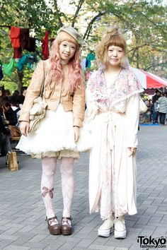 Harajuku street fashion | http://tokyofashion.com/apparel-staffers-dolly-style-from-grimoire-metamorphoses-yuyu/  #couples