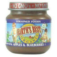 Earth's Best Organic Baby Food Stage 2 Apples and Blueberries -- 4 oz - List price: $1.49 Price: $1.29 Saving: $0.20 (13%)