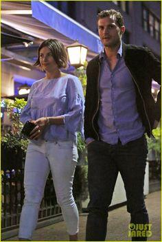 Jamie Dornan Grabs Dinner After Work with Wife Amelia Warner