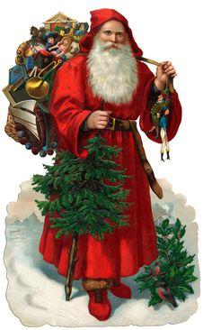 Vintage Santa - Christmas A3 Print. , via Etsy.