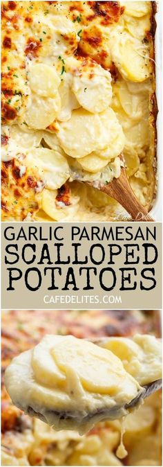 GARLIC PARMESAN SCALLOPED POTATOES | Food And Cake Recipes