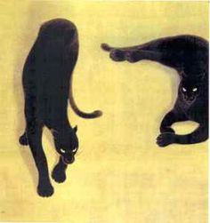 山口華楊《黒豹》1954年
