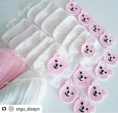 Crochet Baby Poncho, Crochet Teddy, Crochet Baby Clothes, Knit Crochet, Free Crochet, Granny Square Crochet Pattern, Afghan Crochet Patterns, Baby Knitting Patterns, Crochet Handbags