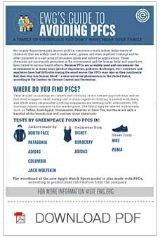 """Click through to download EWG's """"Guide to Avoiding PFCs."""" http://www.ewg.org/research/poisoned-legacy"""