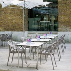 Vitra Vegetal Chairs by Ronan & Erwan Bouroullec...outside dining at its best.