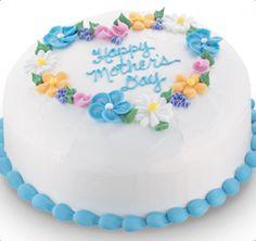 Birthday Cake from Baskin Robbins Flower Heart Cake