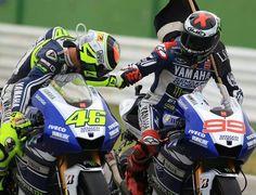 Rossi and Lorenzo...