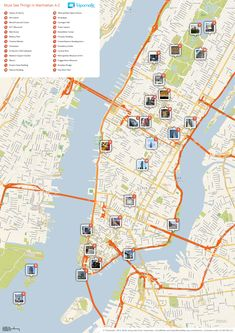 New York City Tourist Map | ... tourist map of New York's Manhattan top sights and attractions